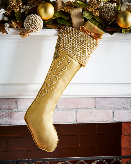 Gold & Glitter Collection Organza Stocking