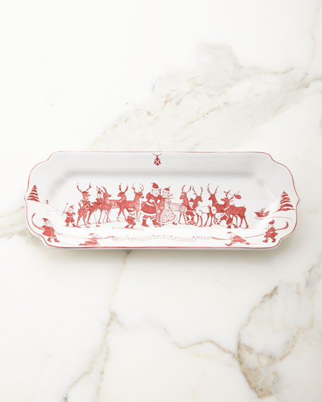 Juliska Country Estate Reindeer Games Hostess Tray