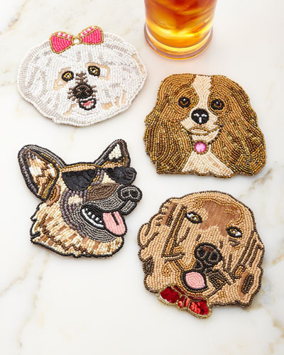 Fetch Dog Coasters, Set of Four