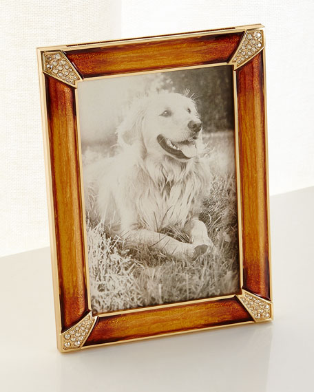 "Leland Pave Corner Picture Frame, Topaz, 4"" x 6"""