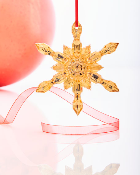 Baccarat Noel Snowflake Ornament, Gold