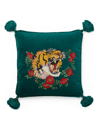 Tiger Velvet Cushion