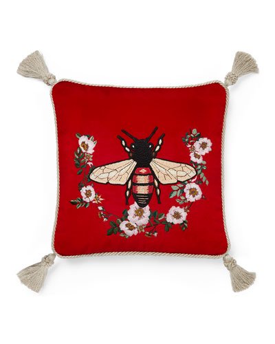 Bee Velvet Cushion