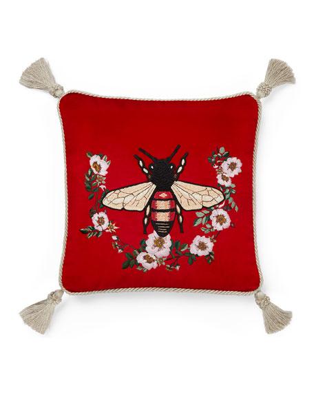 Bee Velvet Cushion