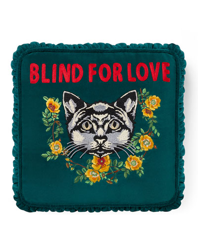 Blind for Love Velvet Cushion