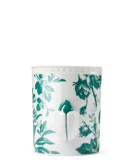 Herbarium Porcelain Candle, Green