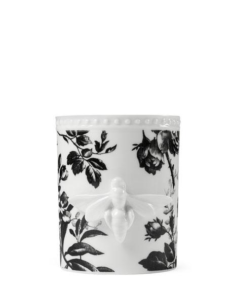 Gucci Herbarium Porcelain Candle, Black Pattern