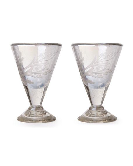 Lustre d'Pasion Cordial Glasses Pair, Clear