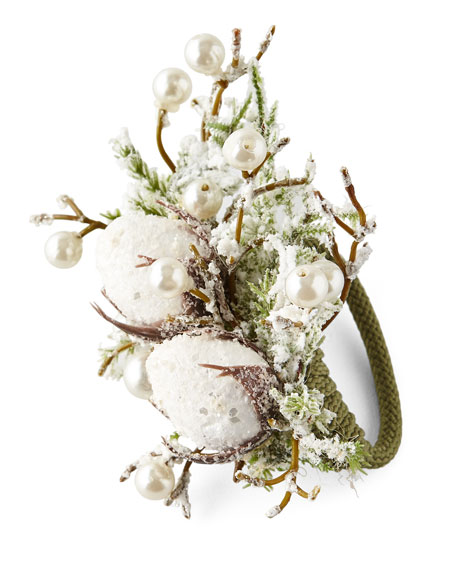 Deborah Rhodes Snowy Cotton Napkin Ring