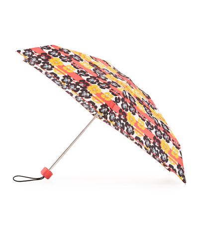 Original Floral & Stripe Mini Compact Umbrella