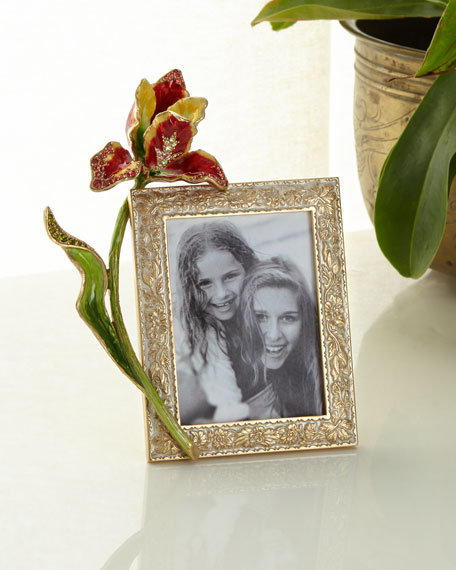 Jay Strongwater Flora Tulip Picture Frame, 3