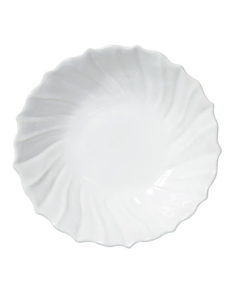Incanto Stone Ruffle Large Bowl, White