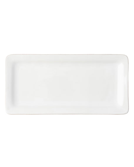 Puro Whitewash Rectangular Appetizer Platter