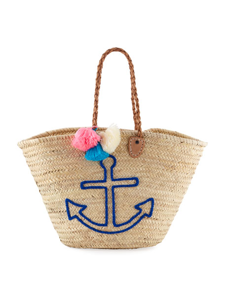 Etincelles Palm Leaf Anchor Tote Bag