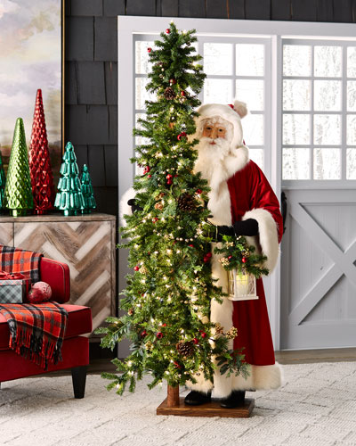 Rose Apple Christmas Santa with Tree