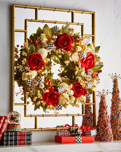 Garnet Magnolia Large Wreath, 26