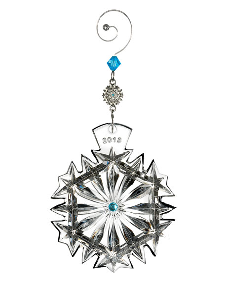 Waterford Crystal Christmas Ornaments.2018 Snowflake Wishes Happiness Christmas Ornament