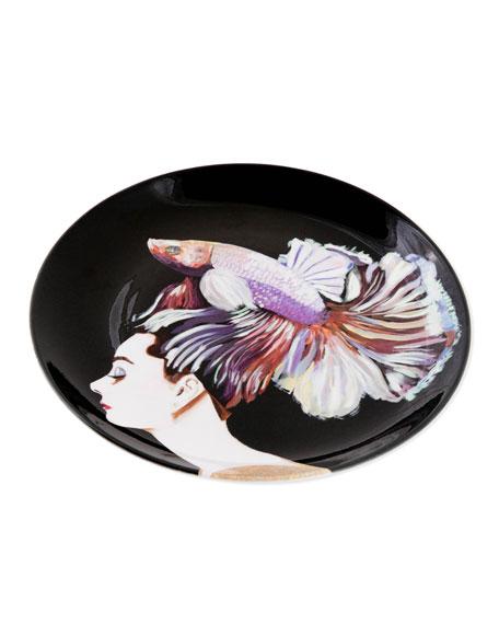 """Audrey Porcelain Plate, 10.75"""""""