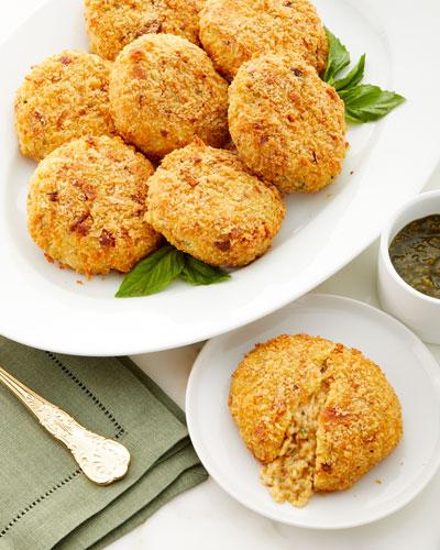 Risotto and Fontina Cheese Rice Cakes  Set of 6