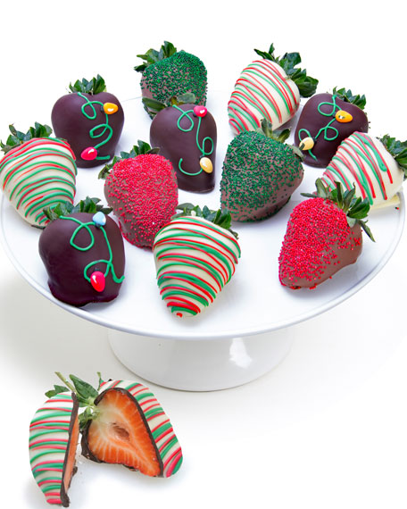 Christmas Light Belgian Chocolate Covered Strawberries