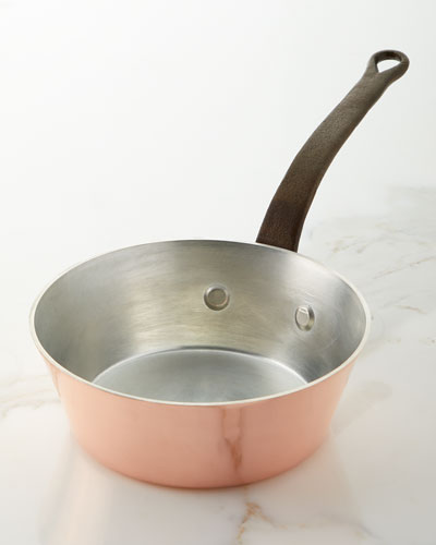 Solid Copper Tin-Lined Splayed Sauce Pan