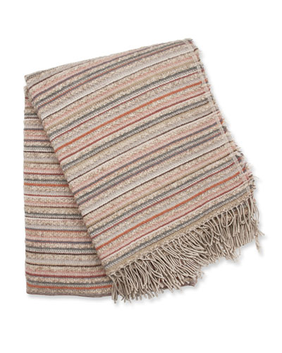 Boucle Striped Throw, Light