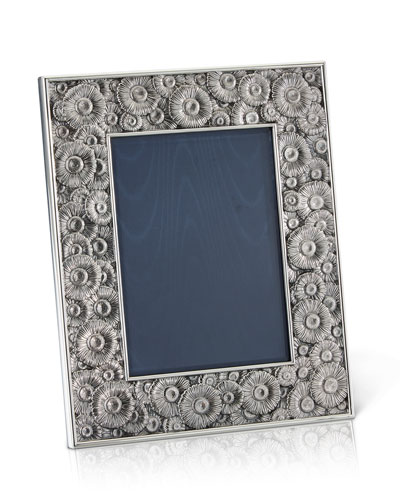 Daisy Silver & Leather Picture Frame  5 x 7