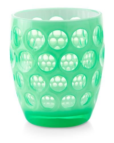 Lente Fluo Acrylic Drinking Glass  Green