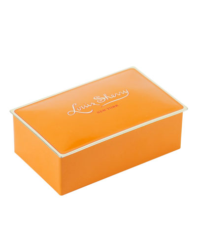 Tangerine Two-Piece Chocolate Truffle Tin