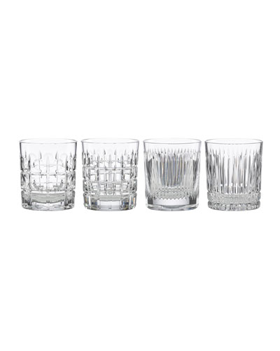 New Vintage Double Old-Fashioned Glasses  Set of 4