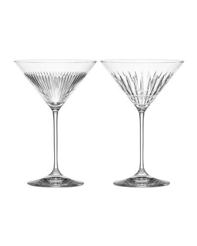 New Vintage Martini Glasses  Set of 2