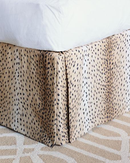 Sloan Animal Print Queen Dust Skirt