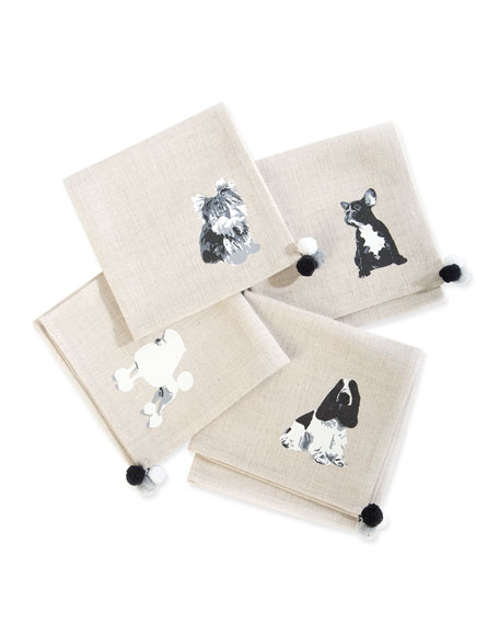 Image 1 of 1: Hair of the Dog Cocktail Napkins, Set of 4