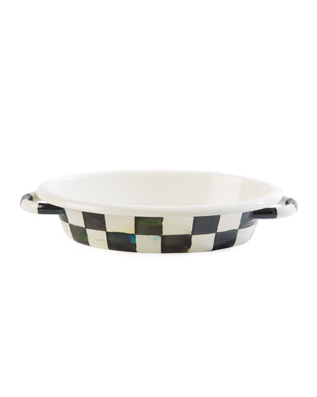Courtly Check Enamel Oval Small Gratin Dish