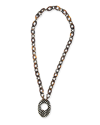 Liaison Courtly Check Reader Necklace