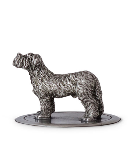Glass Cookie Jar with Dog Finial