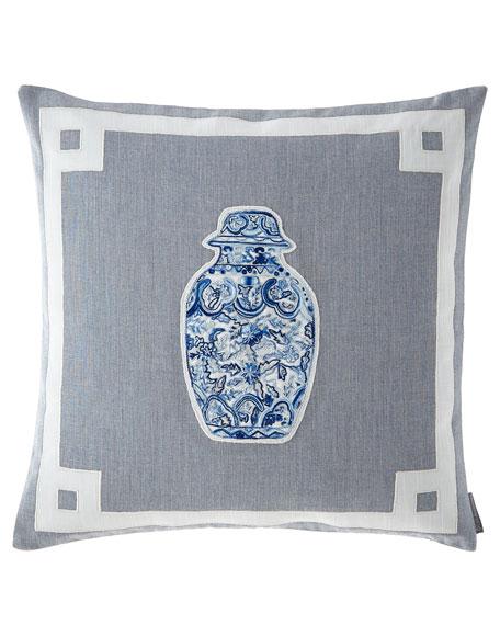 Oriental Medium Square Vase Pillow