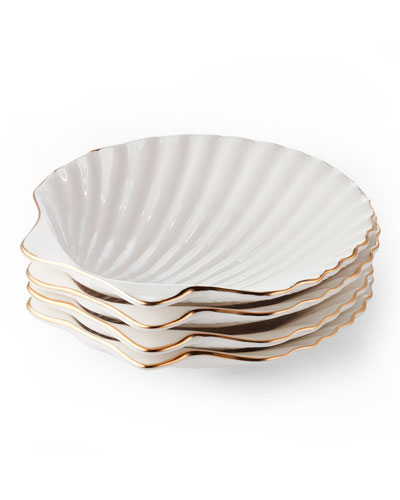 Shell Appetizer Plates  Set of 4