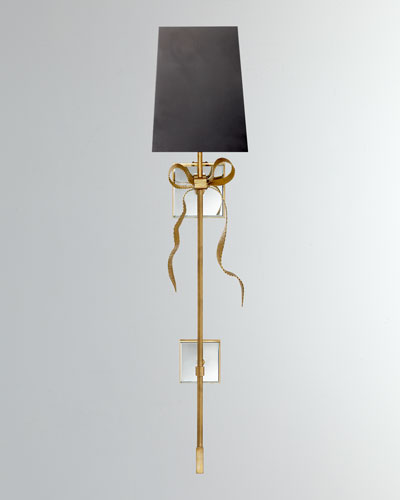 Ellery Grosgrain Bow Tail Sconce