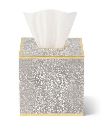 Classic Shagreen Tissue Box Holder