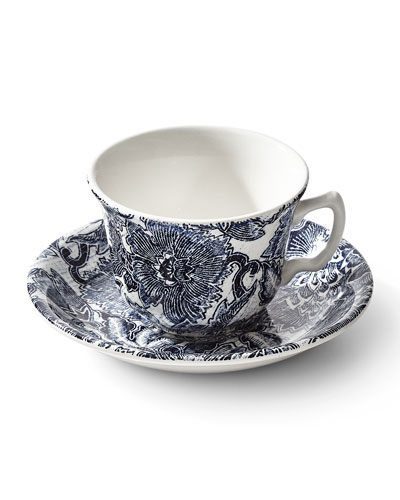 Burleigh Faded Peony Tea Cup & Saucer