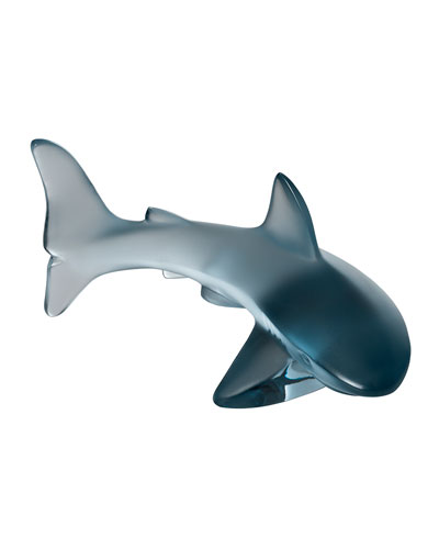 Small Shark Sculpture  Persepolis Blue