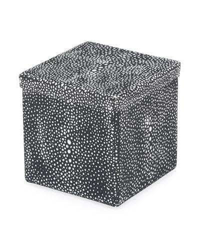 Shagreen Samurai Lidded Box  Black