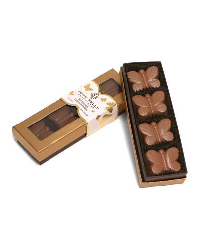 4-Piece Milk Chocolate Butterflies with Caramel Roasted Almonds and Sea Salt