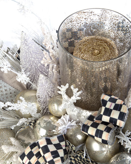 Snowfall Candle Centerpiece
