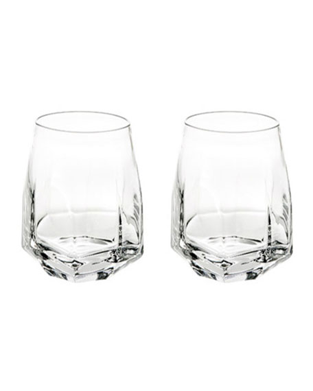 Gemstone Double Old-Fashioned Glasses, Set of 2