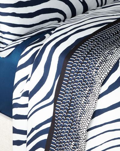 Frame Zebrage King Flat Sheet