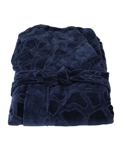 Jerapah Italian Hooded Bathrobe - Size XXL  Blue