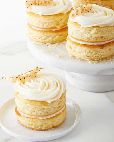 8 Mini Rose Golden Butter Cakes