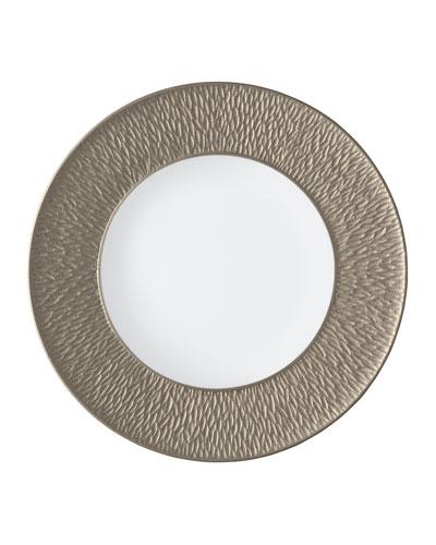 Mineral Irise Warm Gray Dinner Plate